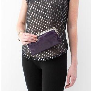 HOBO Purple Lauren Double Frame Clutch Wallet